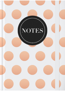 White Cover with Copper Dots