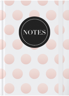 White and Rose Gold Dots Cover