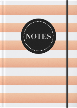 White and Copper Stripes Cover
