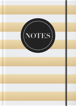White and Gold Striped Notebook