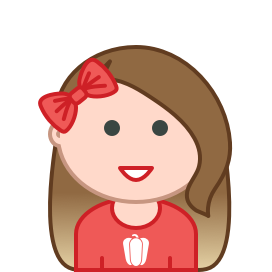 Heidi as a moji with a red Capsicum shirt and red bow